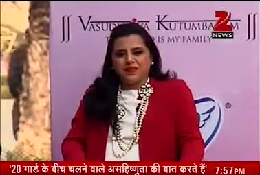 <strong>Neeleshwari Basak Beauty Wellness and Lifestyle Expert for ZEE NEWS PANEL DISCUSSION</strong>